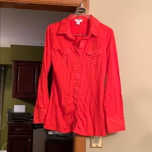 XS orange top from Old Navy